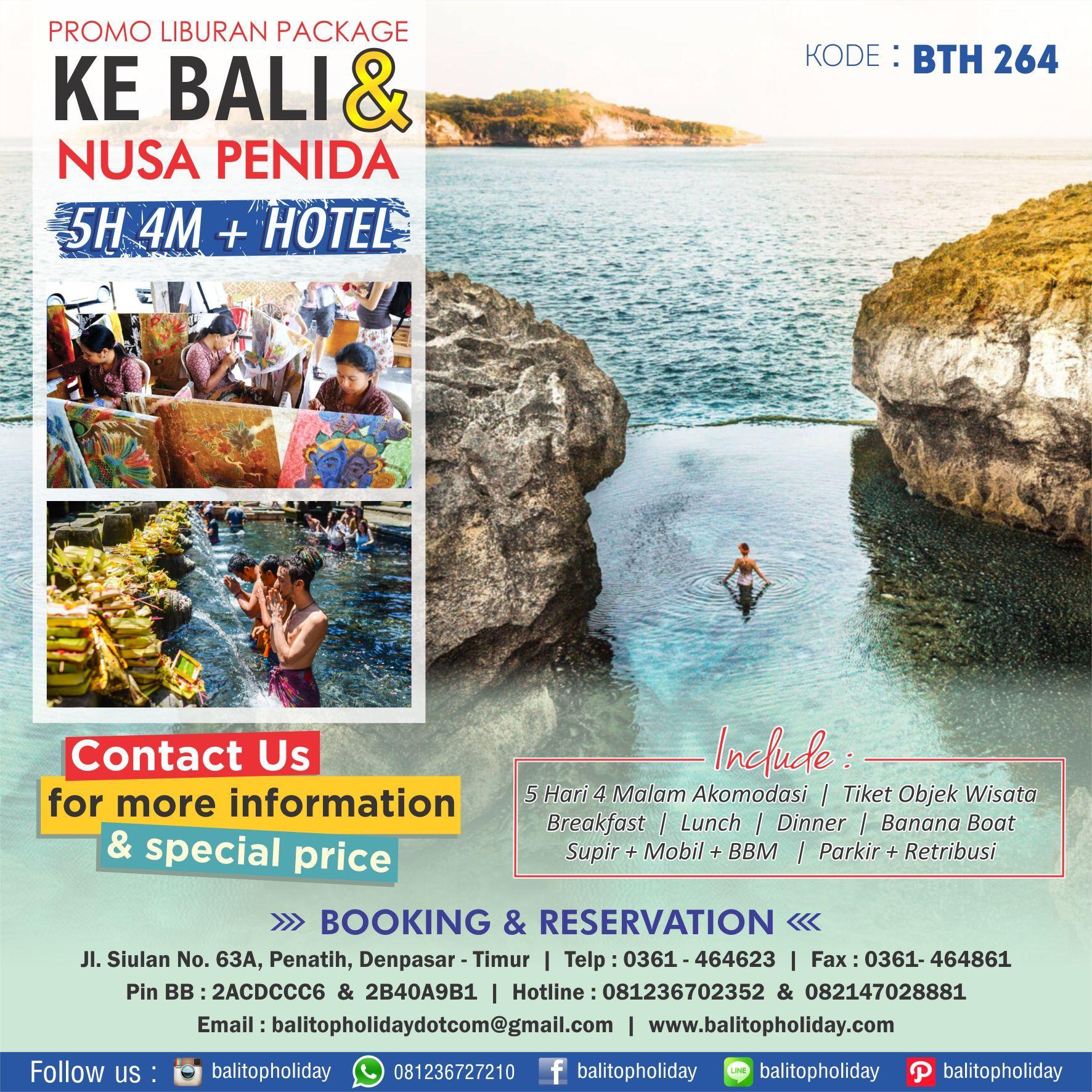 Paket Tour Bali 5 Hari 4 Malam 3 Baru Nusa Penida