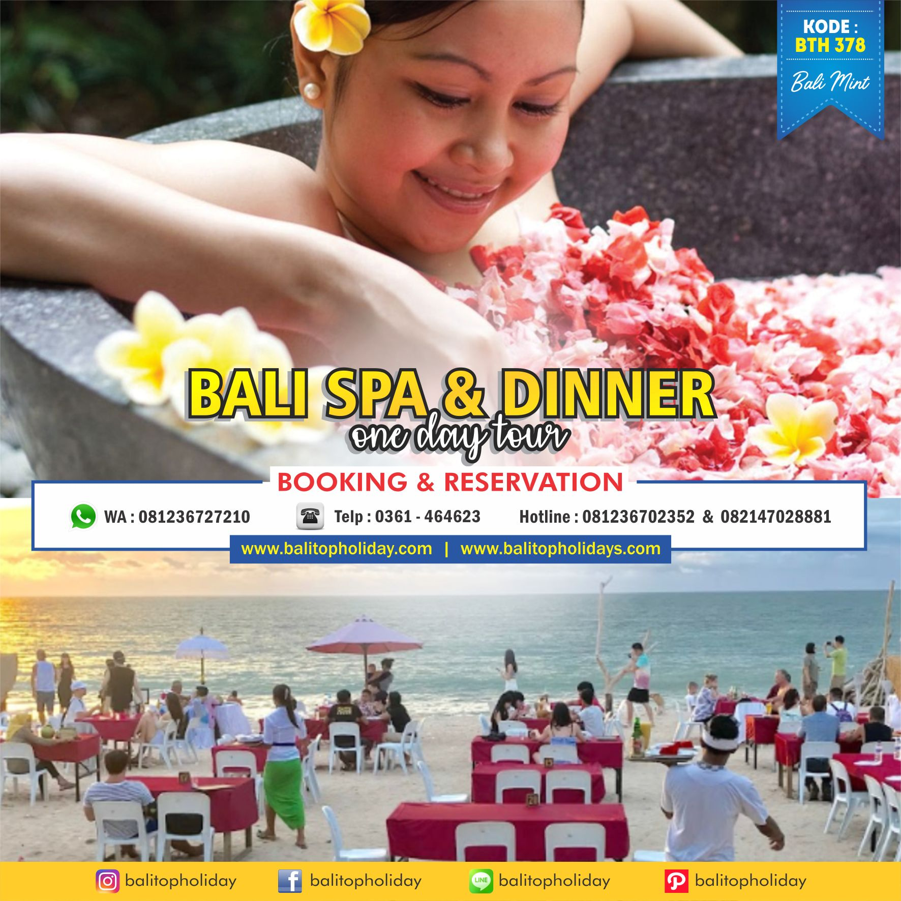 Bali SPA and Dinner One Day Tour BTH 378 Bali Mint