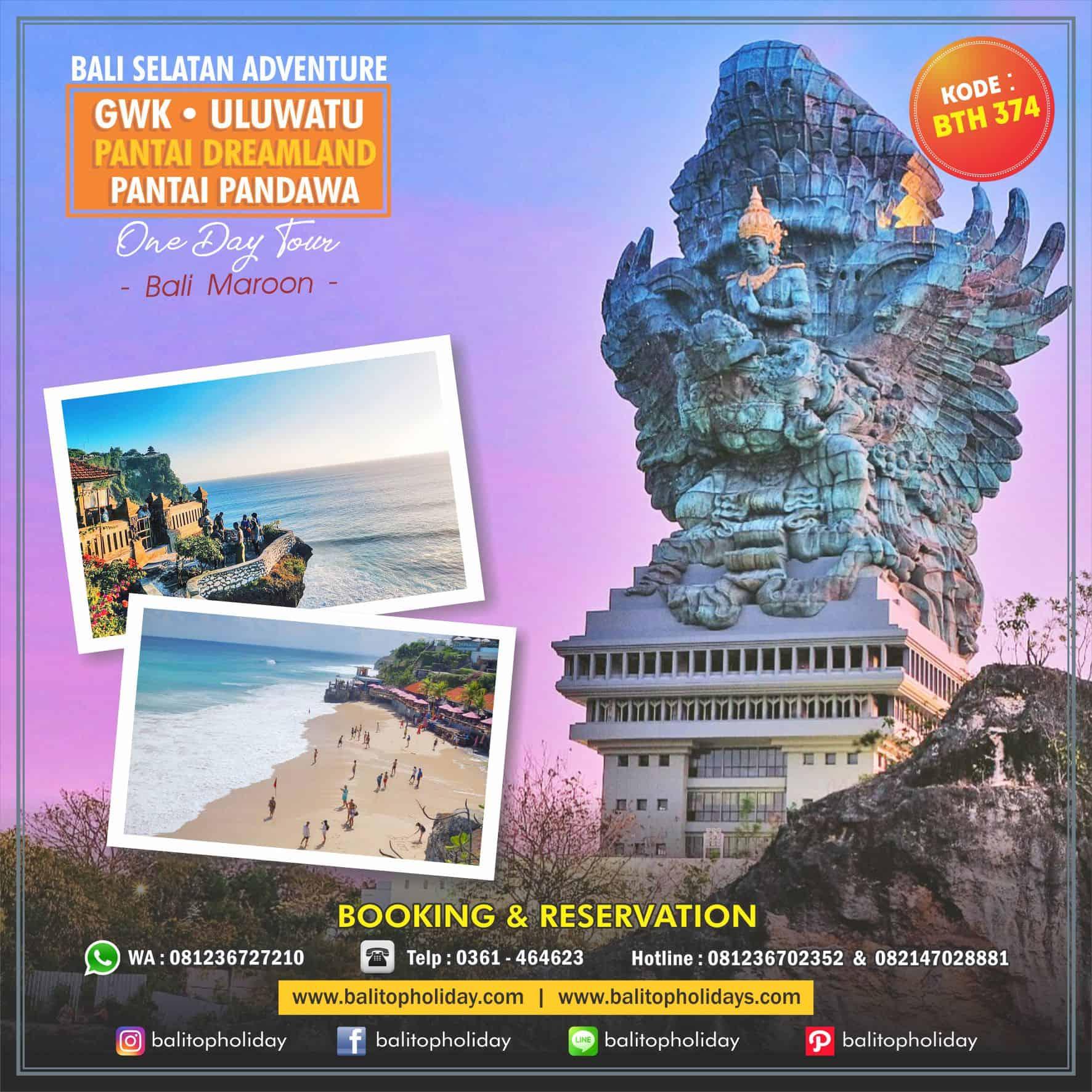 Bali Selatan Adventure One Day Tour BTH 374 Bali Maroon