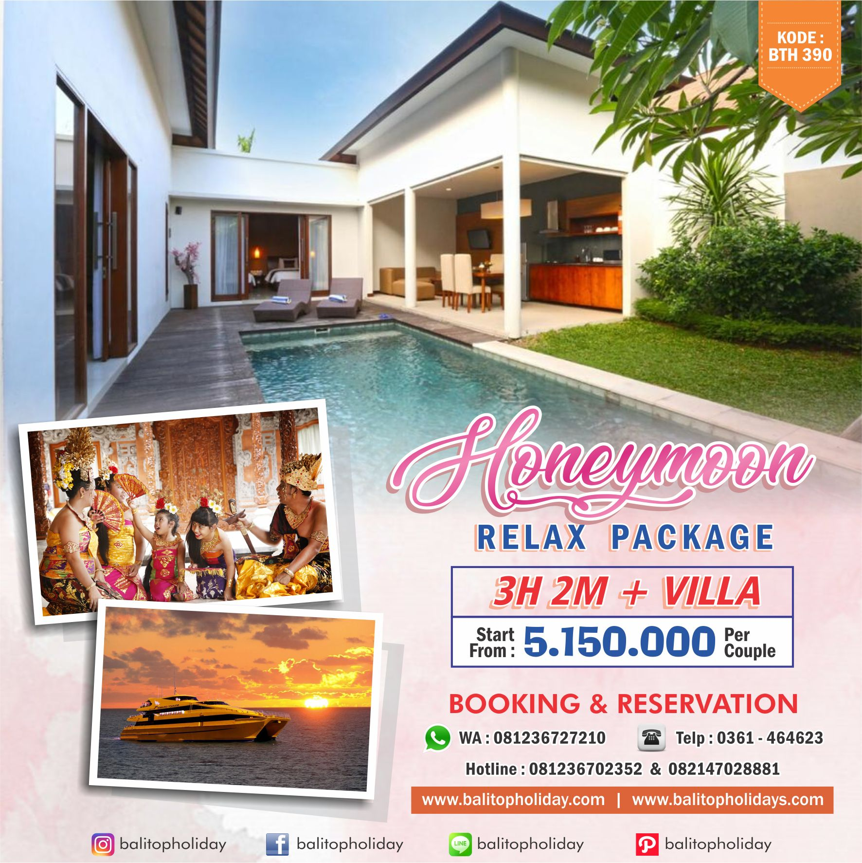 Honeymoon Relax Package BTH 390